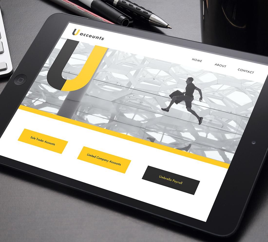 Brand development and digital case study - Uaccounts iPad visual