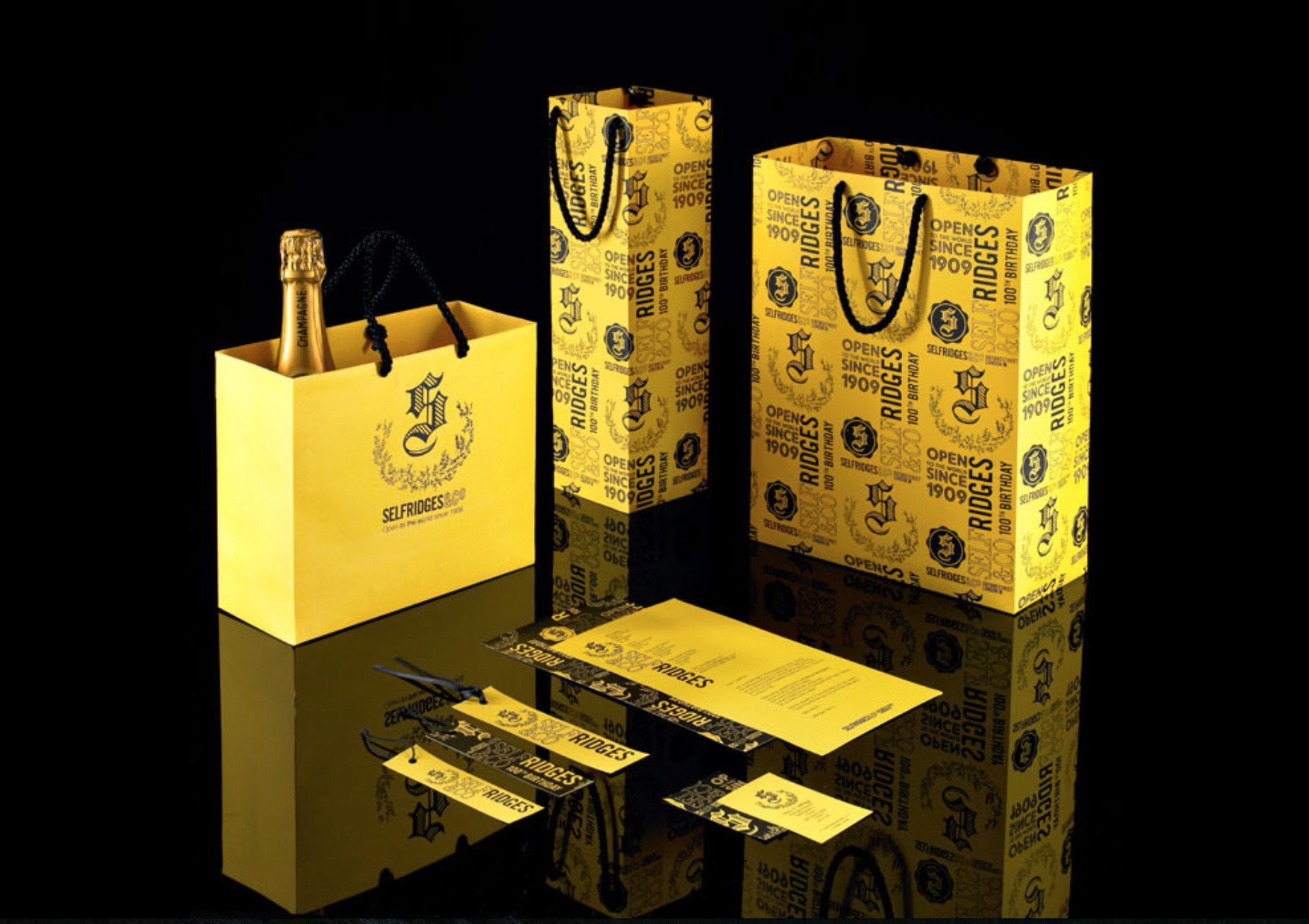 Selfridges branding and collateral