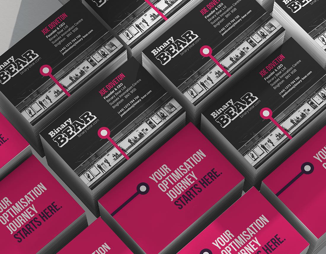Business card design - Binary Bear